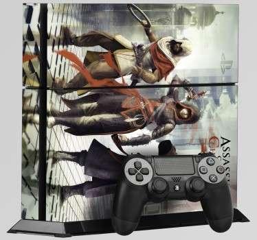 Vinilo para PS4 de uno de los juegos con mejores gráficos. Vinilo decorativo de Assassin's Creed para tu PlayStation 4. Juega interminables partidas y personaliza tu videoconsola.