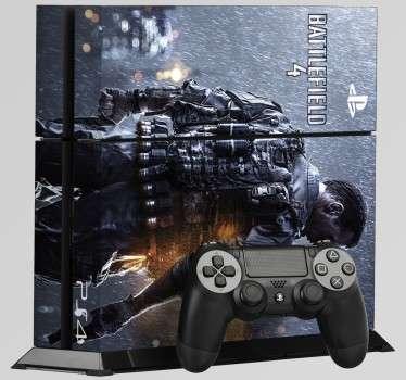 Vinil skin para ps4 alusivo ao Battlefield 4 é perfeito para ti, agora já vais poder jogar sempre em grande estilo! Não deixam residuos após remoção.