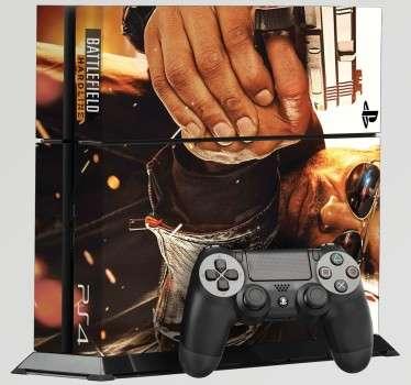 BF: Hardline es una de las últimas entregas de la saga Batllefield. Hazte con este vinilo para PS4 y disfruta del juego mientras decoras tu consola. Vinilo decorativo de facil aplicación para los más entusiastas de la saga.