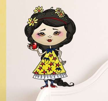 Snow White Illustration Sticker