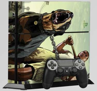 PS4 Aufkleber Grand Theft Auto V