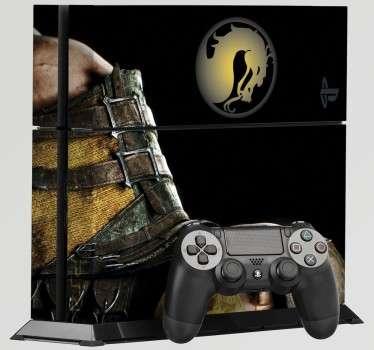 Pegatinas para PS4 con el mítico juego de lucha Mortal Kombat. Si te encantan las artes marciales y los videojuegos de lucha, decora tu videoconsola acorde con ello. Adhesivos de fácil aplicación y baratos.