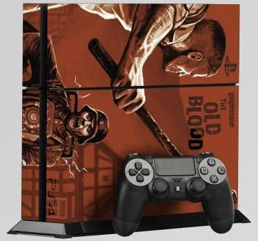 Skin para PS4 do jogo Wolfenstein The Old Blood é perfeita para tornar a tua PS4 numa consola exclusiva, original e super personalizada!