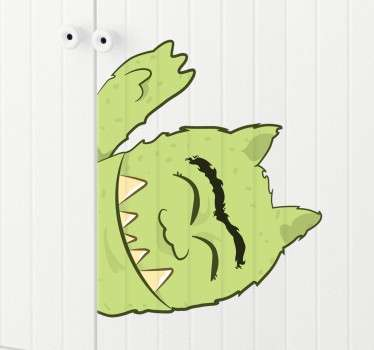 Groene kast monster sticker
