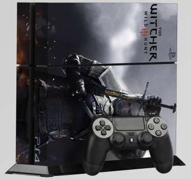 Aufkleber PS4 The Witcher 3