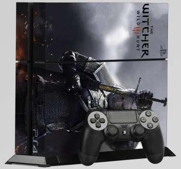 Naklejka na PS4 Wiedźmin 3