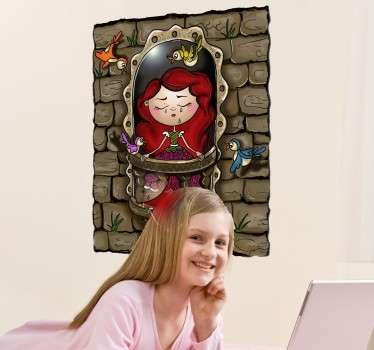 Princess in Tower Sticker