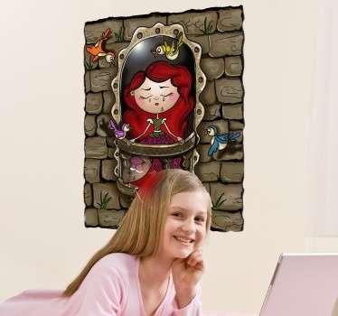 Princess in Tower Sticker