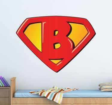 Personalised Super B sticker! Brilliant vinyl for the little ones to decorate their room.