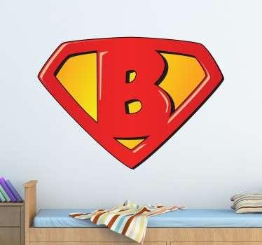 Sticker infatile Super B