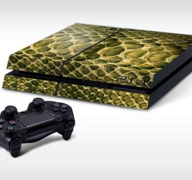 PS4 Skins; Customise your PlayStation 4 console with this high quality decal vinyl. Reptile skin design.