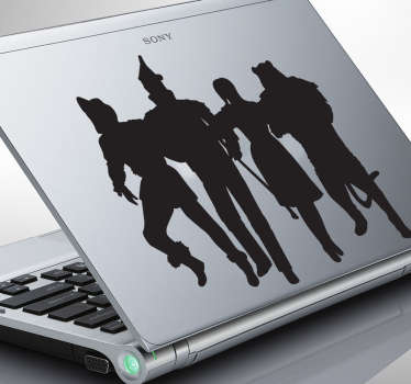 Decorate your laptop with this superb monochrome sticker illustrating the famous musical play, The Wizard of Oz.