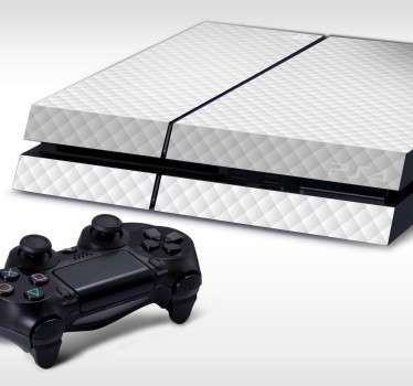White Quilted PlayStation 4 Skin