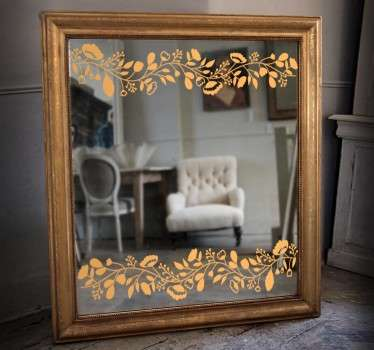 Sticker miroir floral
