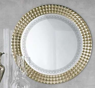 Vinilo decorativo para espejos redondos