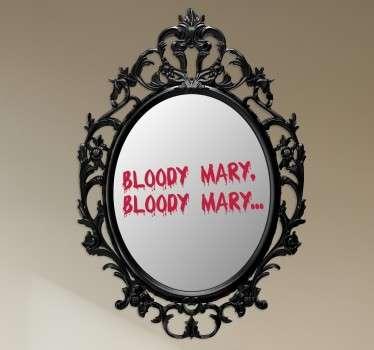 Vinil decorativo espelho Bloody Mary