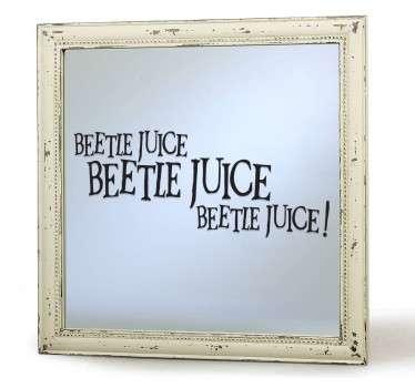 Para los fans de la obra de Tim Burton y en especial del fantástico fantasma Bitelchús este vinilo para decoración de espejos.