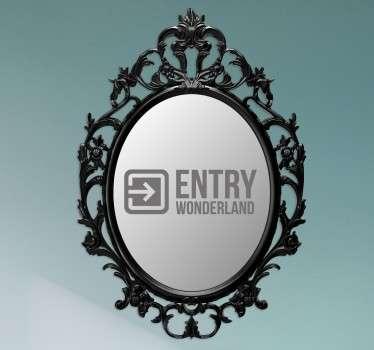 Spiegel Aufkleber Wunderland