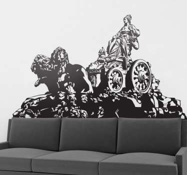 Cybele statue wall sticker to decorate any space space with glamour. It is available inn any size required and the application is easy.