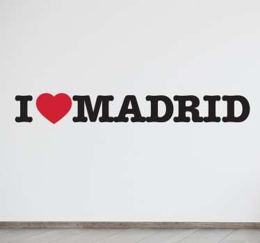 Do you love Madrid? Prove it with this classic sticker and place it in your living room or the trunk of your car or wherever you choose.