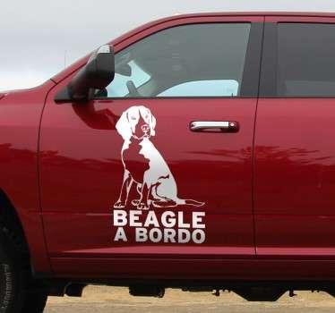 Vinilo decorativo Beagle a bordo