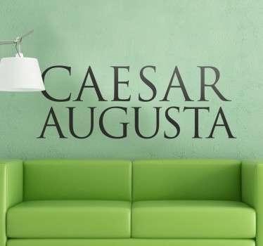 Adhesivo con el nombre originall en latín de la capital de Aragón, Zaragoza. Ideal para zaragozanos de pro como tú.