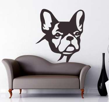 Vinilo decorativo Bulldog observando