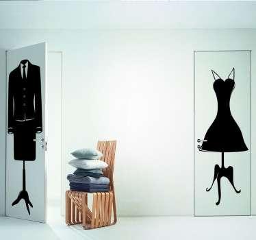Vrouwen jurk model sticker