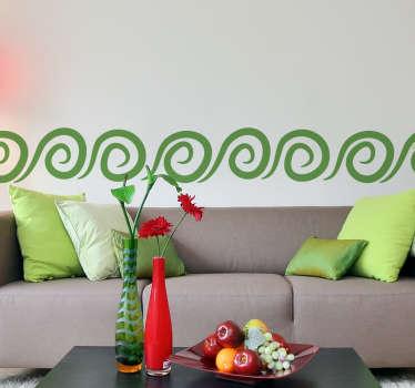 Autocollant frise murale spirales