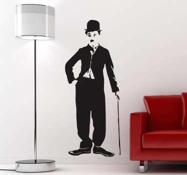 Wall sticker silhouette Charles Chaplin