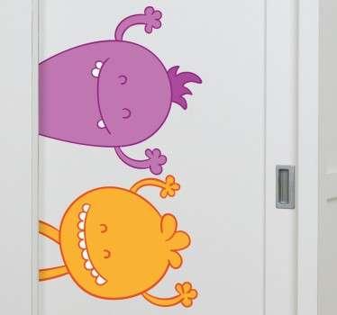 Fun Monsters Wardrobe Sticker
