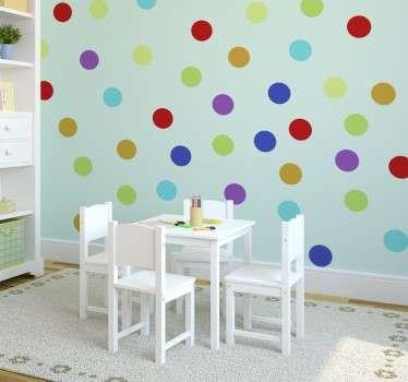 Multi-Coloured Circles Sticker
