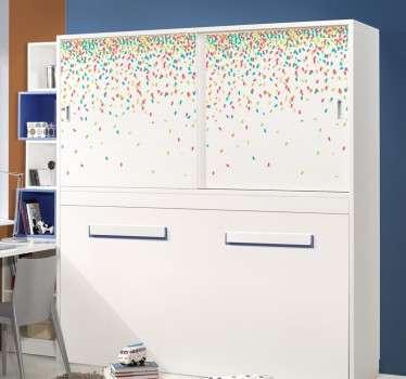 Sticker armoire confetti