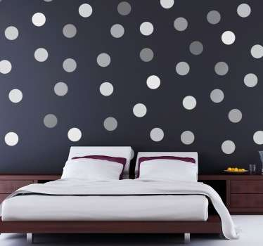 Decorative Grey Circles Sticker to decorate the walls of your home. The circle pattern decal is a unique design and will give your bedroom or living room so much extra.