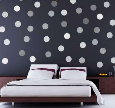 Dekorative grå sirkler klistremerke