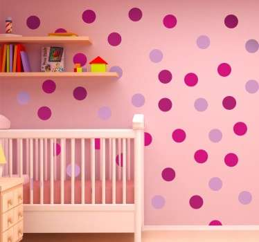 Pink Coloured Circles Sticker
