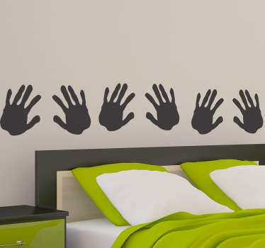Hand Print Headboard Wall Decal