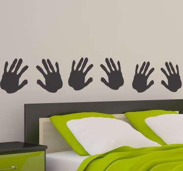 Hände Aufkleber Bordüre