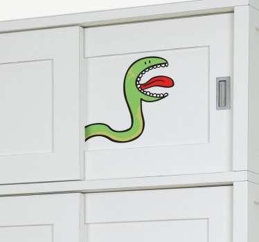 Sticker enfant serpent pour armoire