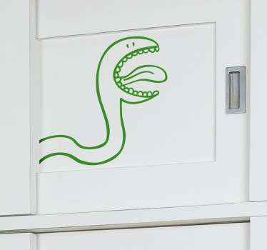 Kids Wall Stickers - Fun and playful illustration outline of a snake. Ideal for decorating cupboards and wardrobes for children.