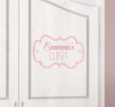 Kids Personalised Closet Decal
