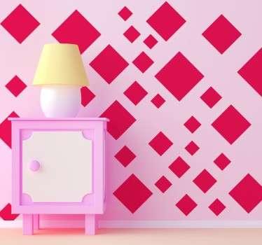 Vinil decorativo quadrados geométricos
