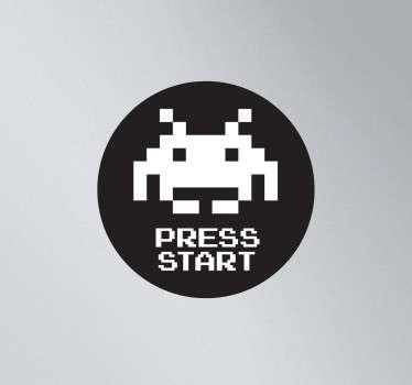 Adesivo Portatile Space Invaders