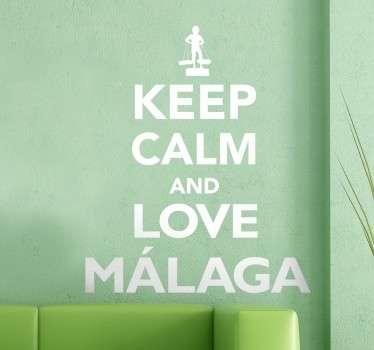 Naklejka dekoracyjna kochaj Malagę