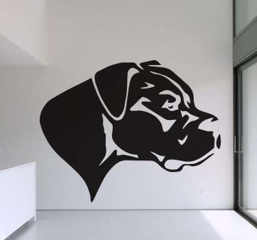 Wall Stickers - Silhouette illustration of a Great Dane. Original wall decal feature for your home or business.