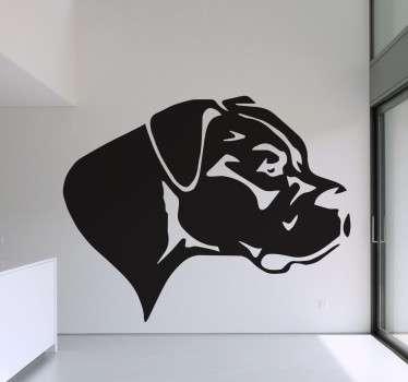 Vinilo decorativo Dogo observando