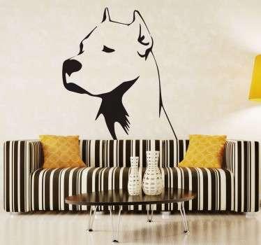Wandtattoo Hund Schwarz Weiss