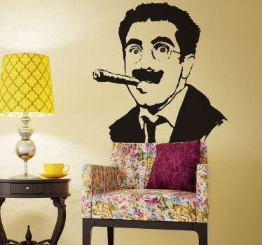 Vinilo decorativo Groucho Marx
