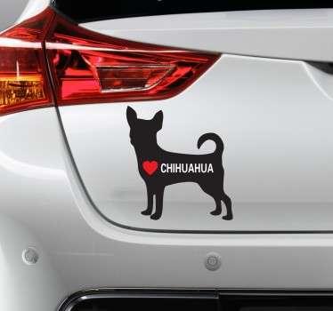 vinilo decorativo I Love Chihuahua