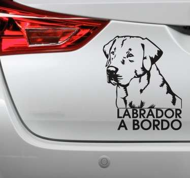 Vinilo decorativo Labrador Retriever a Bordo